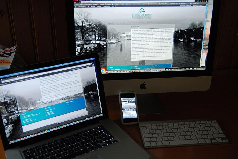 Website Meerwaarde uitvoering WebFantasia responsive 2012