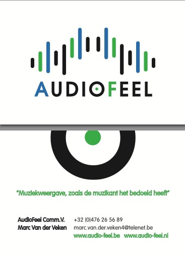 Website Audio-Feel concept vormgeving Tambajong