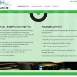 Website Audio-Feel concept vormgeving Tambajong uitvoering WebFantasia