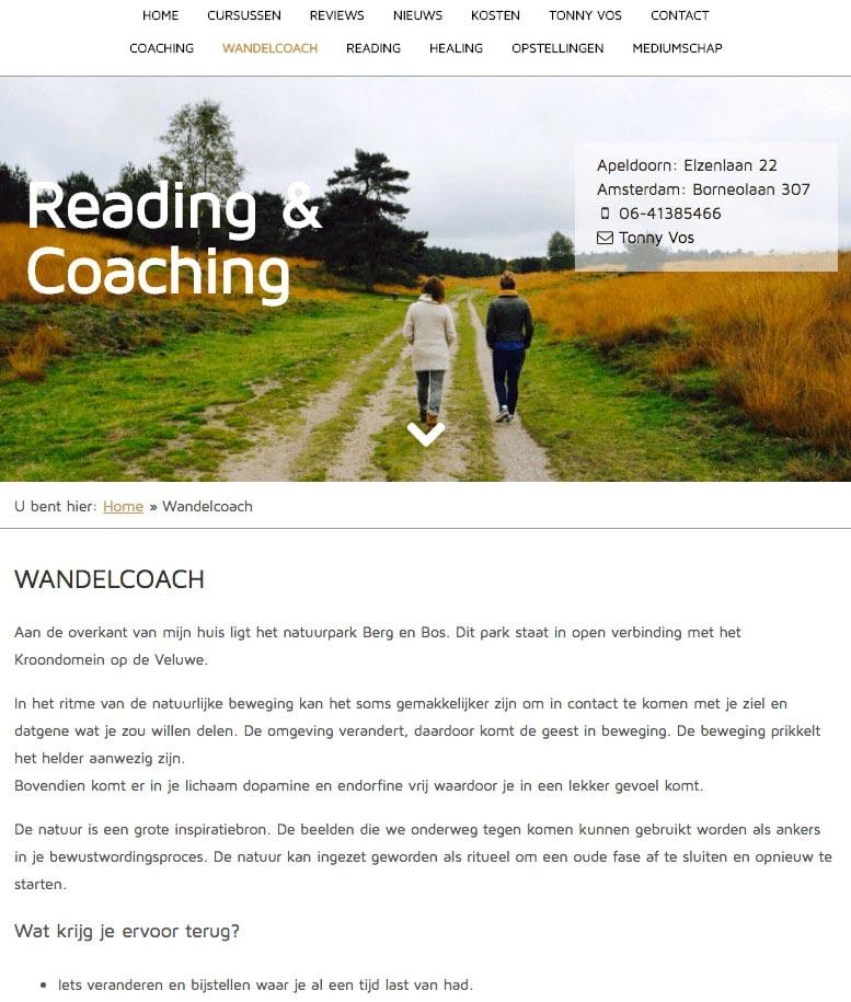 Website Reading Coaching wandelcoach