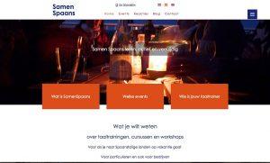 website SamenSpaans workshops cocinar ver películas hablar español