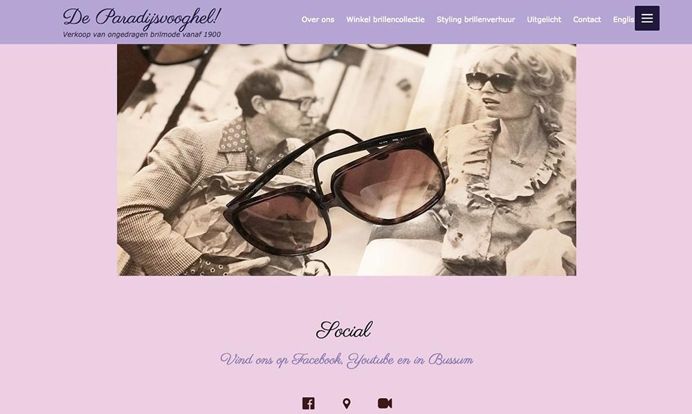 Vintage brillenmode Bussum
